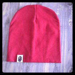 BAPE Kids Logo Beanie (Red)